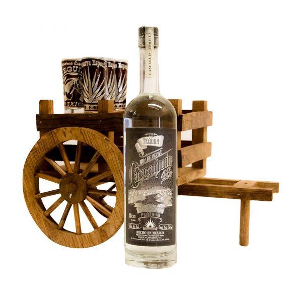 Tequila_Cascahuin_Plata48_Carreta_Madera