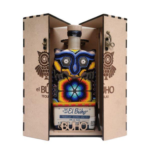 Tequila_el_Buho_Extra_Añejo_Caja_Madera_2