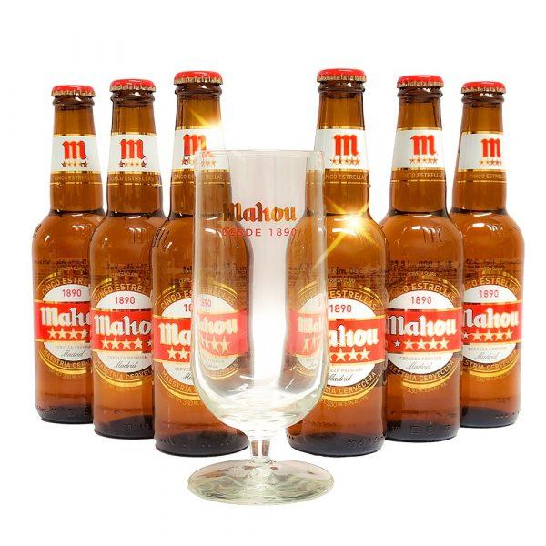 Six_Pack_Cerveza_Mahou_Cinco_Estrelas_Con_Copa